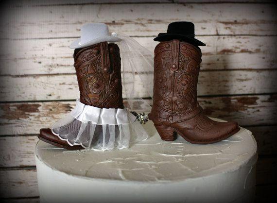 e2e4b95bf7a Western cowboy boots wedding cake topper | My dream wedding ...