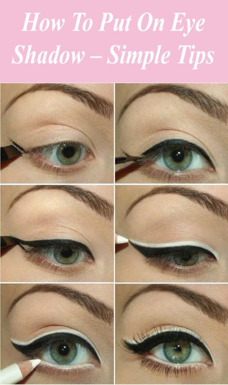 How To Put On Eye Shadow Eye Makeup Pinterest Eye Makeup And