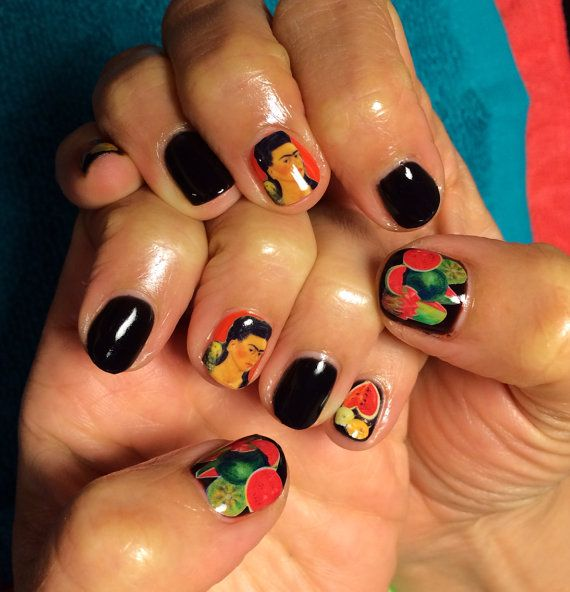 Nail Decals Frida Kahlo by chachacovers on Etsy | Uñas | Pinterest ...