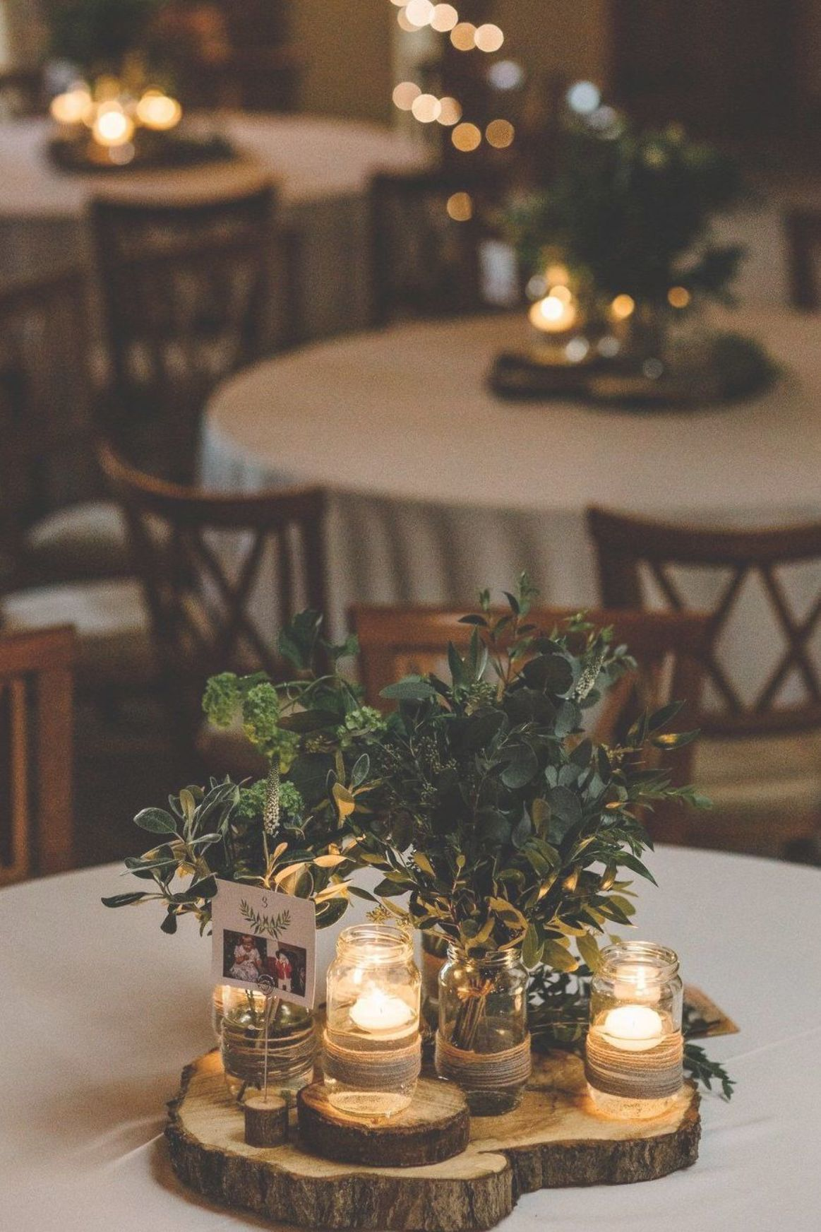 Rustic Table Wedding Decor With Foliage White Floral Centrepieces Intimate Greenery Wedding Rustic Wedding Table Rustic Wedding Decor Rustic Wedding Venues