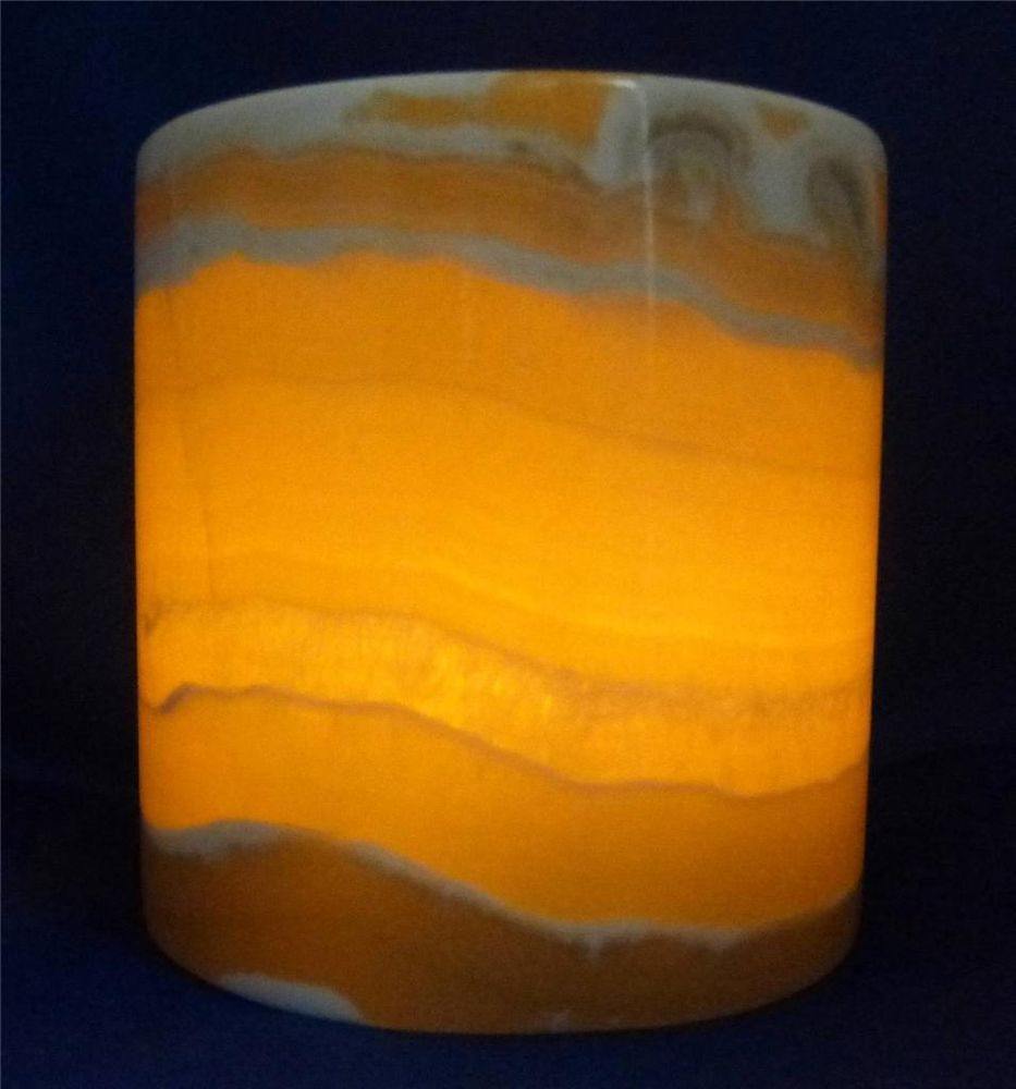 Egyptian Alabaster Candle Holder C Translucent Marble NEW ...