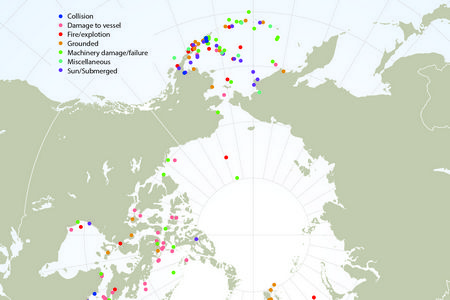 (Figure 9.2 from Booklet) 'Arctic shipping activity and coastal marine biodiversity' (Arctic Council, November 2014)