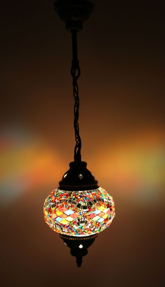Multicolour Turkish Moroccan Style Mosaic Hanging Lamp Light Hand Made Dy222 Hanging Lamp Mosaic Lamp Lamp Light