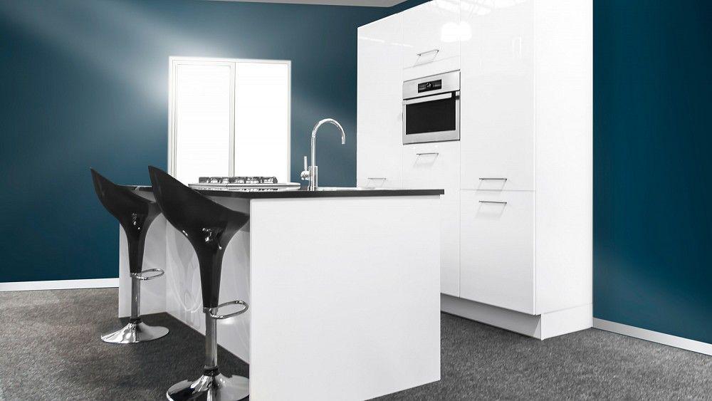 Kookeiland Wit Hoogglans : Keukenloods.nl paco wit hoogglans. mooie glanzende witte keuken