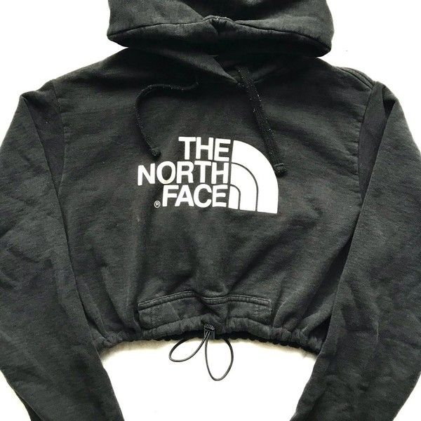 4c5499dcd6e Vintage North face crop hoody blk ($48) ❤ liked on Polyvore featuring the  north face, cut-out crop tops, the north face tops, crop tops and vintage  crop ...