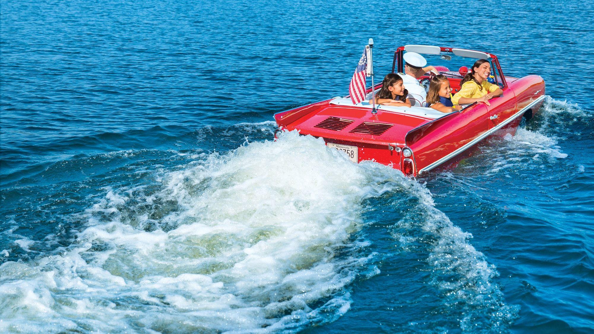 Vintage Amphicar Italian Water Taxi Tours Disney Springs