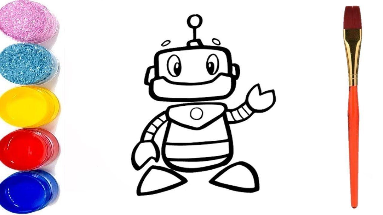 تعلم رسم روبوت للاطفال تعليم الرسم للاطفال Drawing For Kids Robots Drawing Robots For Kids