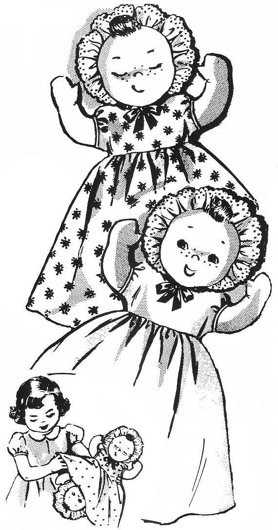 Cloth Doll Pattern Topsy Turvy Doll Doll Clothes Pattern