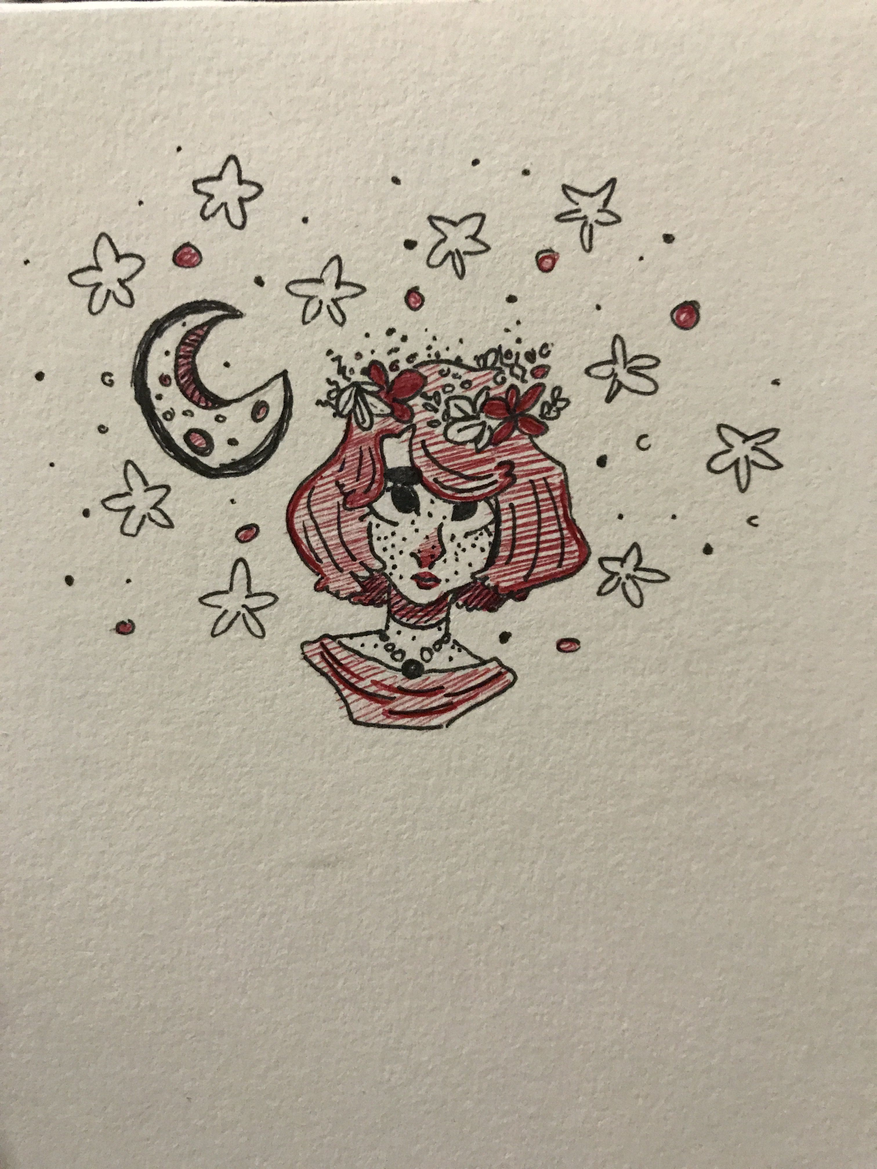 Star Girl Flower Crown Drawing Crown Drawing Flower Crown Drawing Drawing Stars