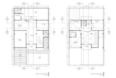 Gambar Denah Potongan Lantai 1 Dan Lantai 2 Denah Rumah Lantai Rumah