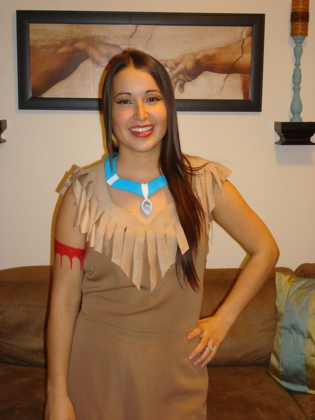 diy pocahontas costume my full costume minus the. Black Bedroom Furniture Sets. Home Design Ideas