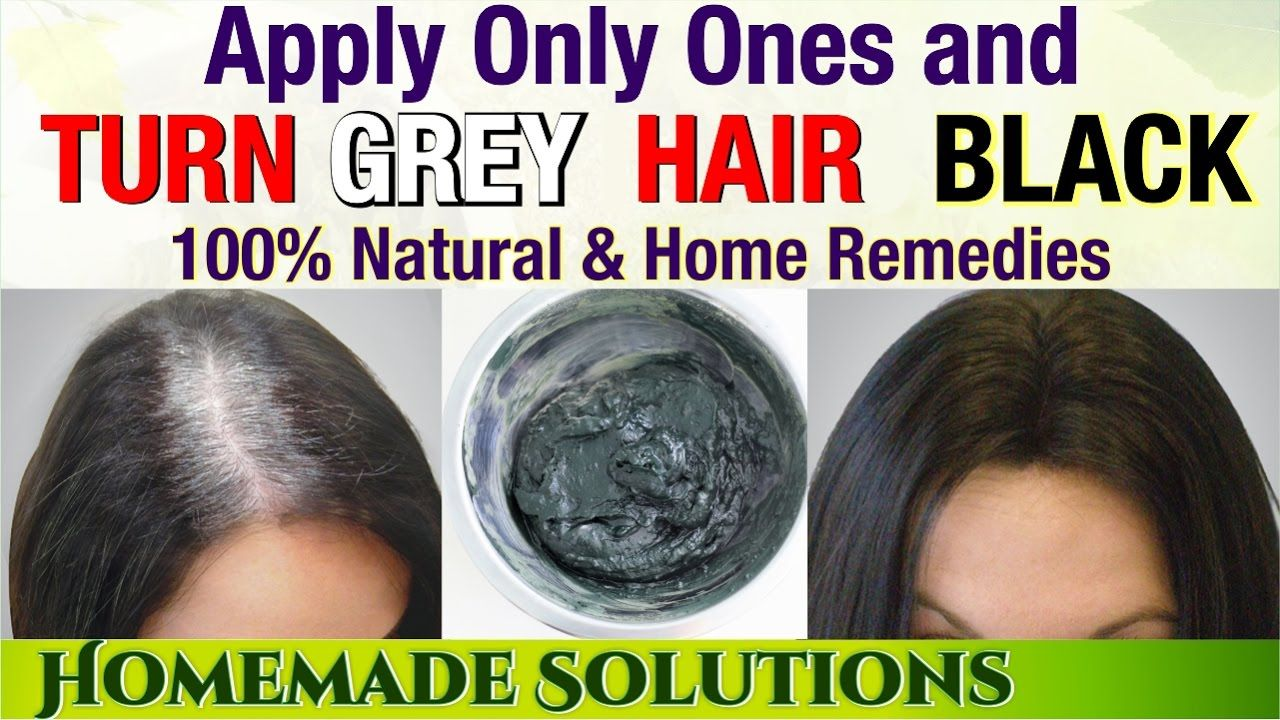 Turn Grey Hair Black Forever Natural Remedy To Turn Hair Black Thick Hair Styles Color Gray Hair Naturally Black Hair Dye