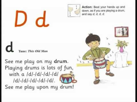 Jolly Phonics Letter D Song