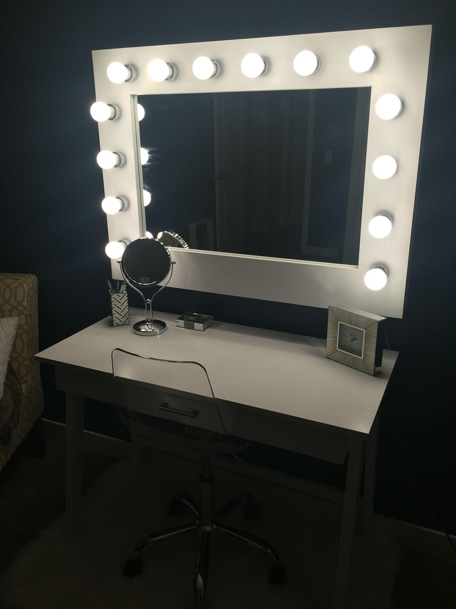 Diy Bulb Mirror Vanity Mirror Beauty Mirror Homemade With Love