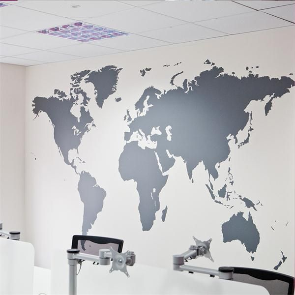 Cheap stickers ski buy quality decor wall sticker directly from world map wall art in office in london silhouette of globe vinyl wall sticker for pr company in the uk gumiabroncs Images