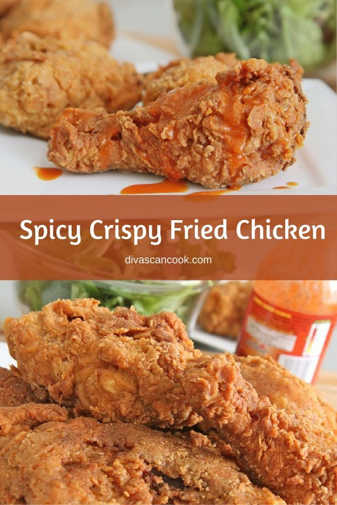 Spicy Crispy Fried Chicken Recipe Crispy Fried Chicken Fried Chicken Recipes Cooking Fried Chicken