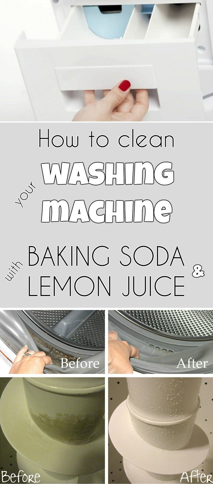 How To Clean Your Washing Machine With Baking Soda And Lemon Juice
