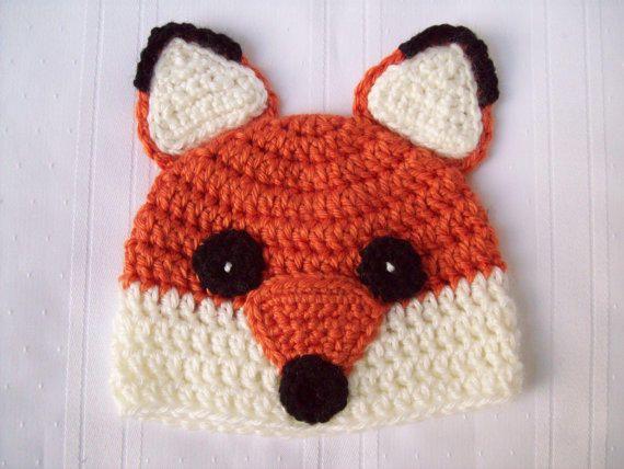 8a8767a5798 Crochet Fox Baby Hat    Fox Newborn Baby Hat    Fox Beanie    Newborn Photo  Prop from CrochetByJulia on Etsy. Saved to Crochet By Julia.  babyhat.