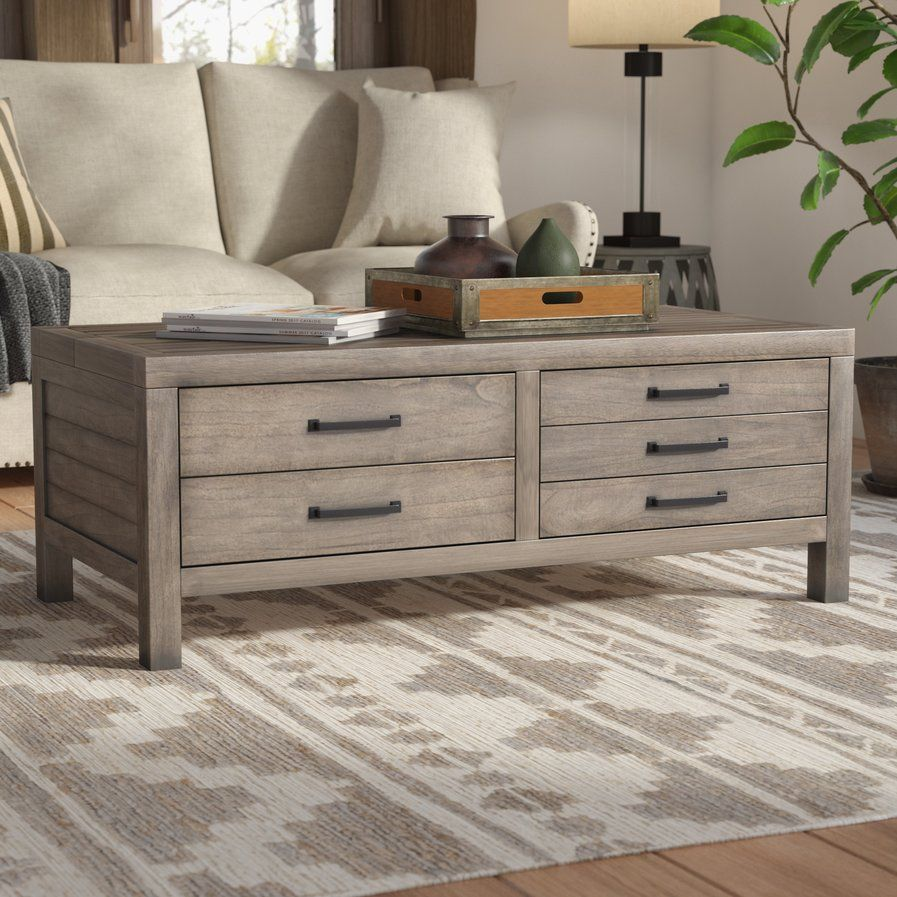 Brianne lift top coffee table rustic living room