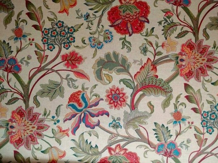 Floral Linen Curtain Fabric Br We Recommend A Sample Of This