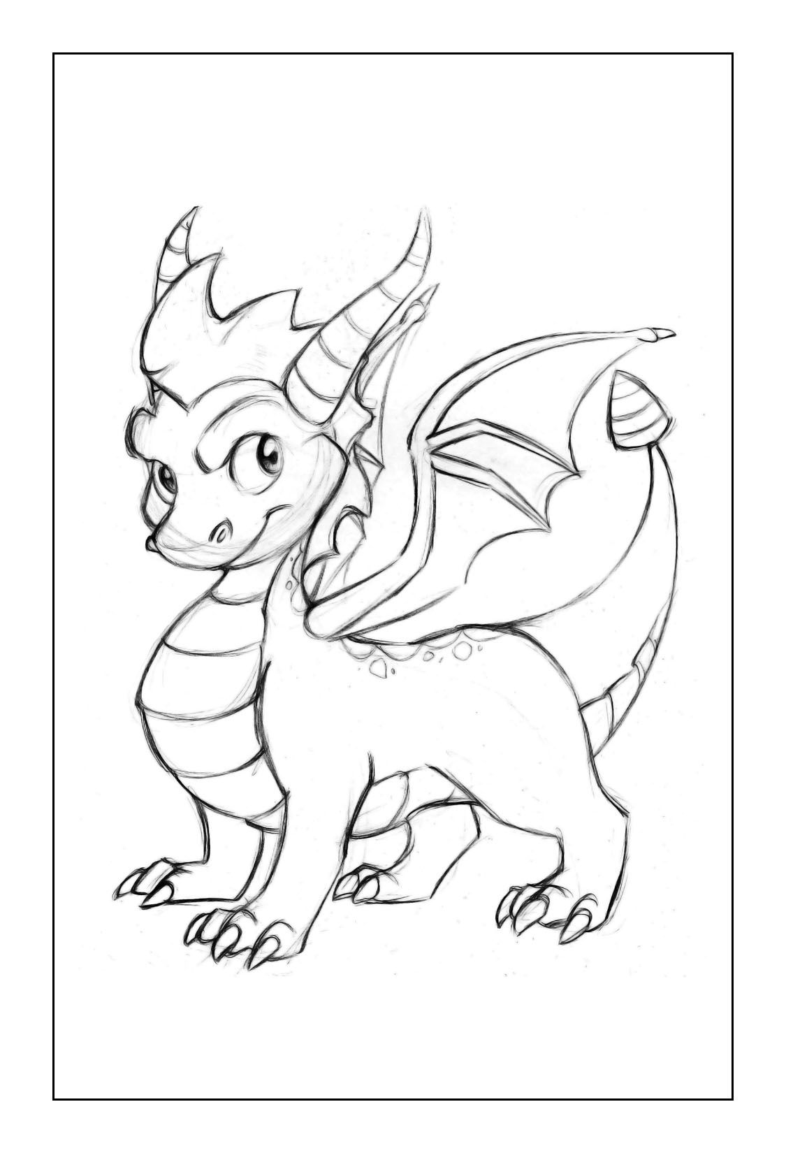 cute Dragon Coloring Pages | Fantasy Coloring Pages | Pinterest ...