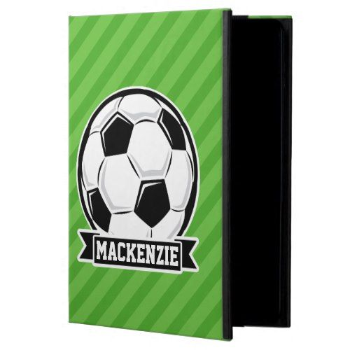 Soccer Ball; Green Stripes Cover For iPad Air