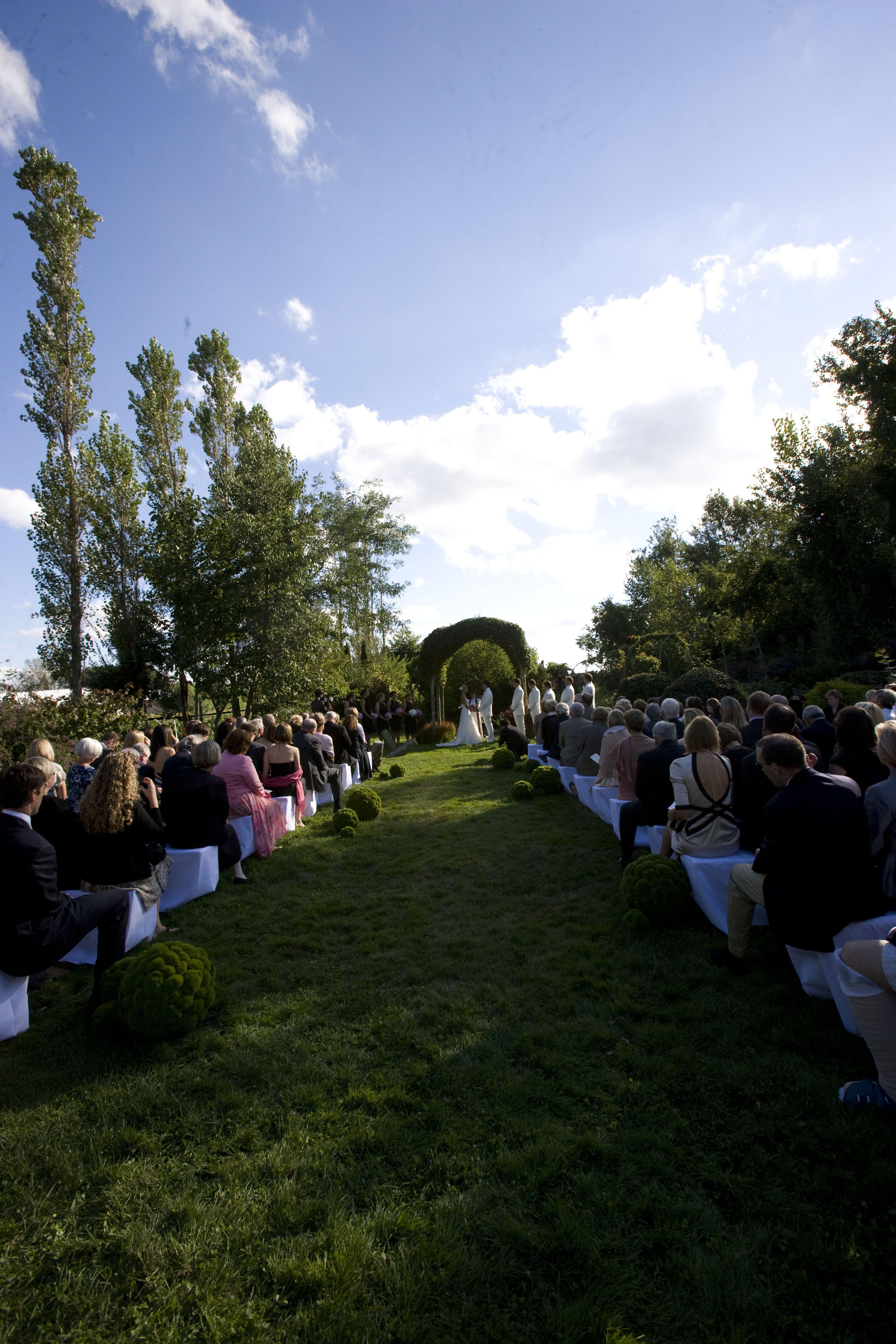 Wedding Ceremony Madoo Conservancy Sagaponack NY photo