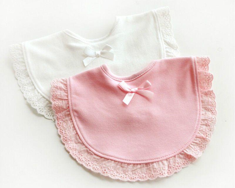 Girl Newborn Toddler Boy Cotton Saliva Towels Feeding Lace Baby Bibs