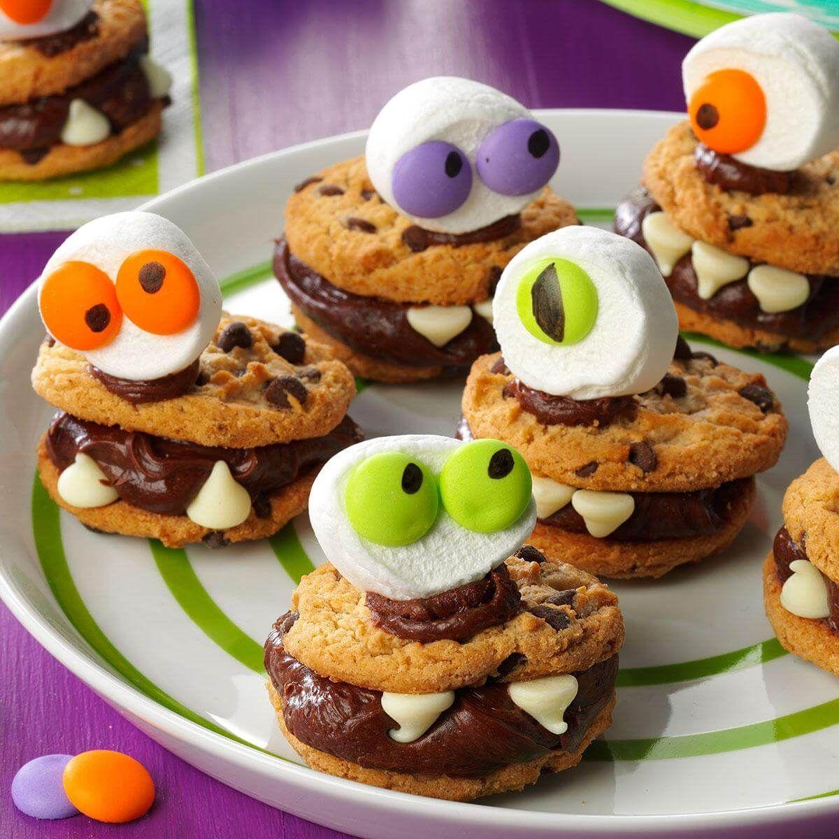 Halloween Monster Cookies Recipe Easy halloween food