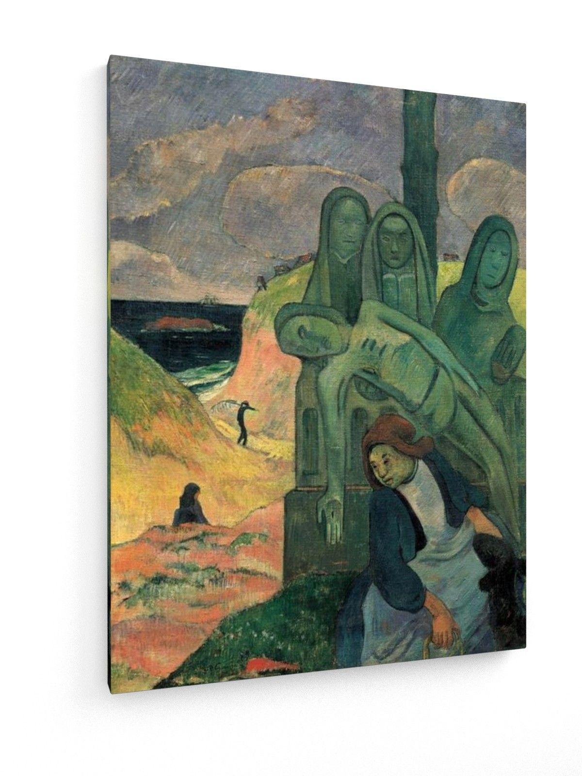 Paul Gauguin - Cristo verde #Paul #Gauguin #weewado #religion #beach #(ocean) #sea #crucifixion