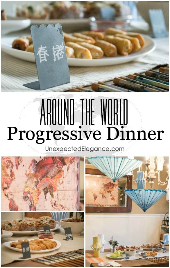 Delightful Progressive Dinner Party Ideas Part - 4: Dinner Themes