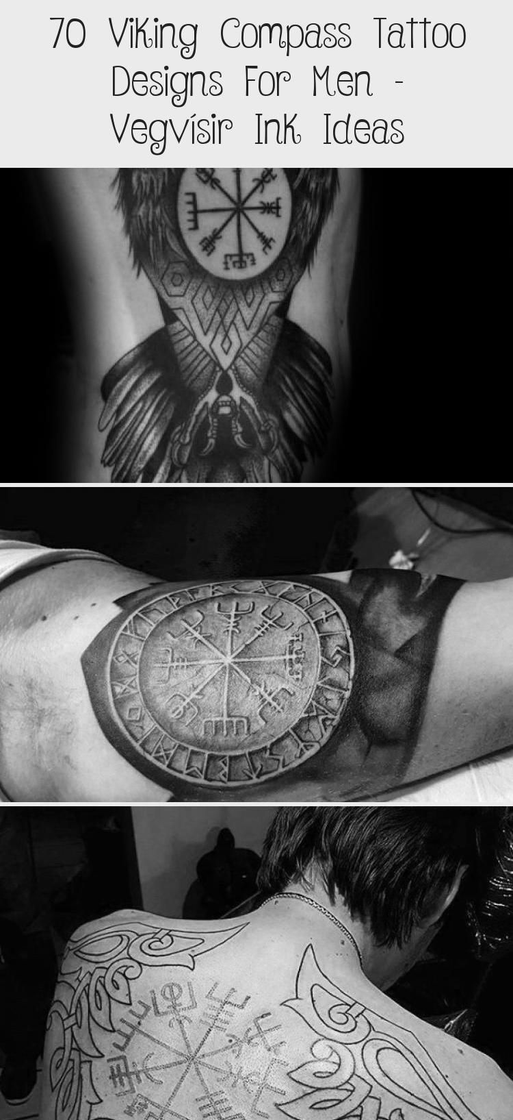 70 Viking Compass Tattoo Designs For Men Vegvísir Ink