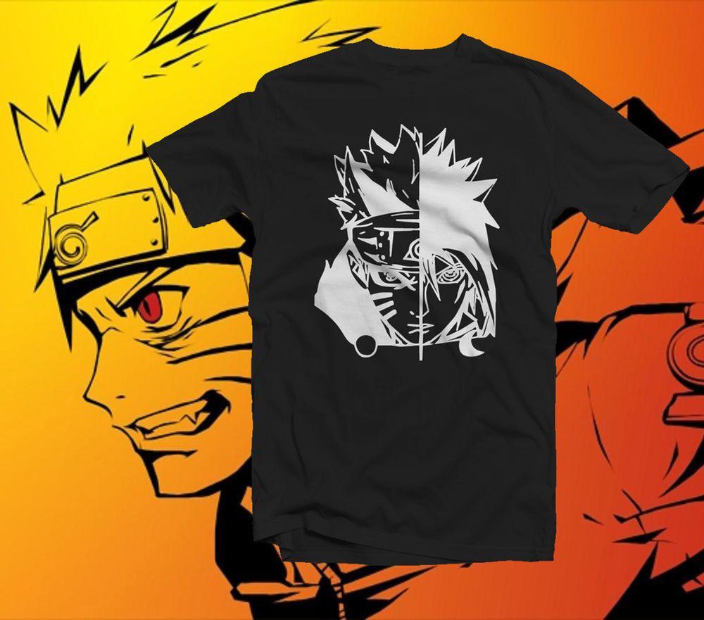 Details About Naruto Sasuke Anime Design T Shirt Naruto T