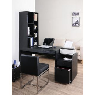 Furniture Of America Zayo Black Finish Office Desk With Bookshelf Ping Great Deals On Desks