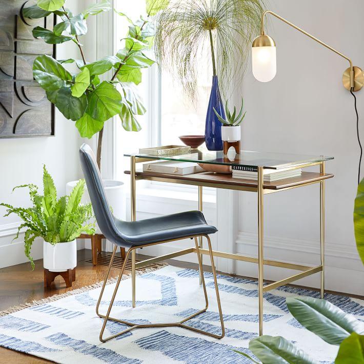 Mid Century Art Display Mini Desk In 2020 Stylish Desk Desks For Small Spaces Mini Desk