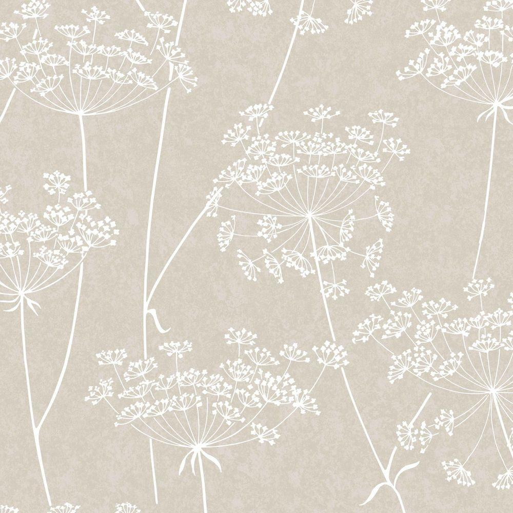Graham Brown Aura Taupe Vinyl Strippable Wallpaper Covers 56 Sq Ft 33 301 The Home Depot White And Silver Wallpaper Grey Wallpaper Floral Wallpaper