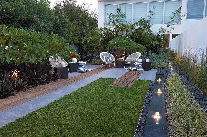 Jardin Tout En Longueur Jardin Moderne Idees Jardin Et Jardin