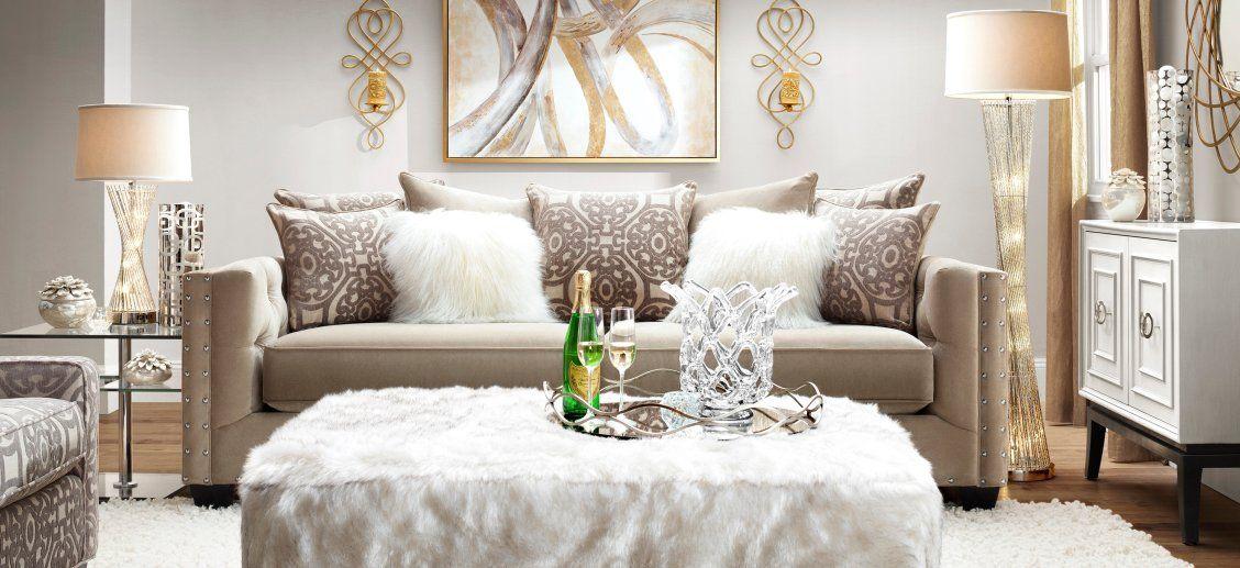 Cindy Crawford Calista Microfiber Sofa Bring In The New Year