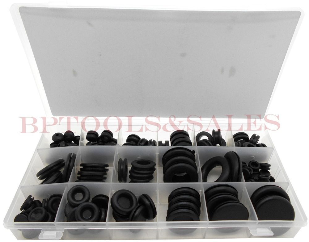 125 Pc Rubber Grommet Firewall Wire Gasket Solid Hole Plug Assortment Set Ebay Rubber Grommets Grommets Rubber