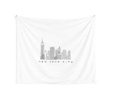 New York City Skyline Tapestry Tapestry Skyline Wall Tapestry