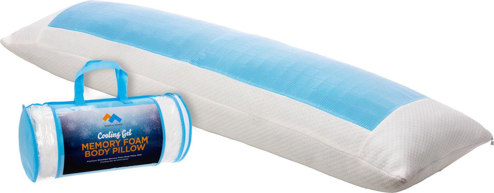 Mindful Design Shredded Memory Foam Full Body Support Pillow W