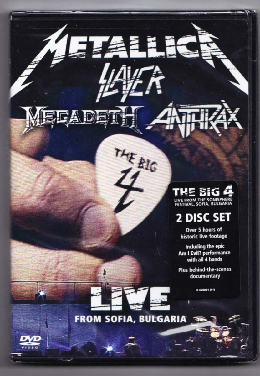 17fb88a914f5 The Big Four of Thrash Metal. Metallica, Slayer, Megadeth, Anthrax. At the  time, I only knew Metallica and barely anything about Slayer.