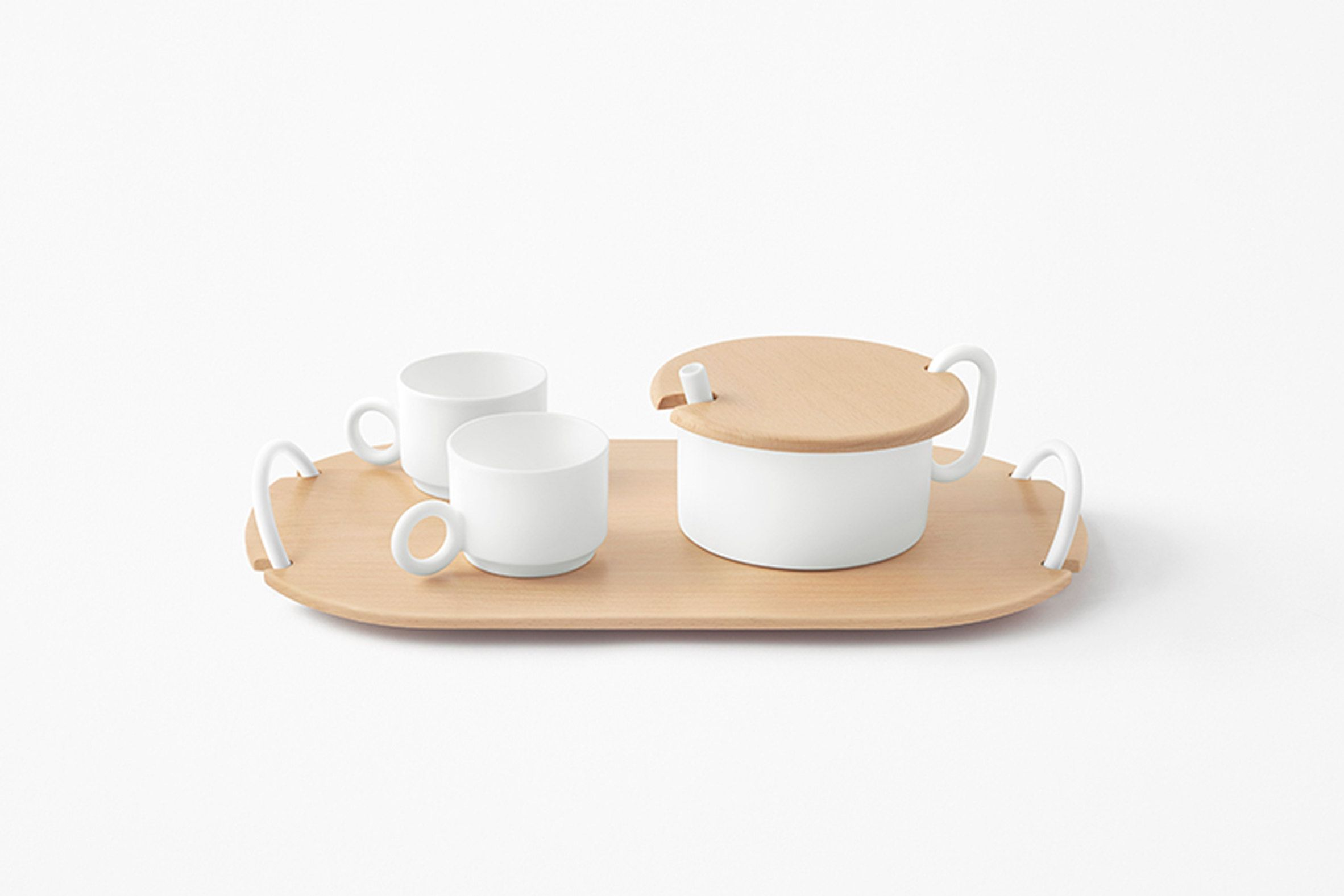 Zen Arte E Aroma Nendo Tableware Plank Coffee Tea Set For Zens Photo By