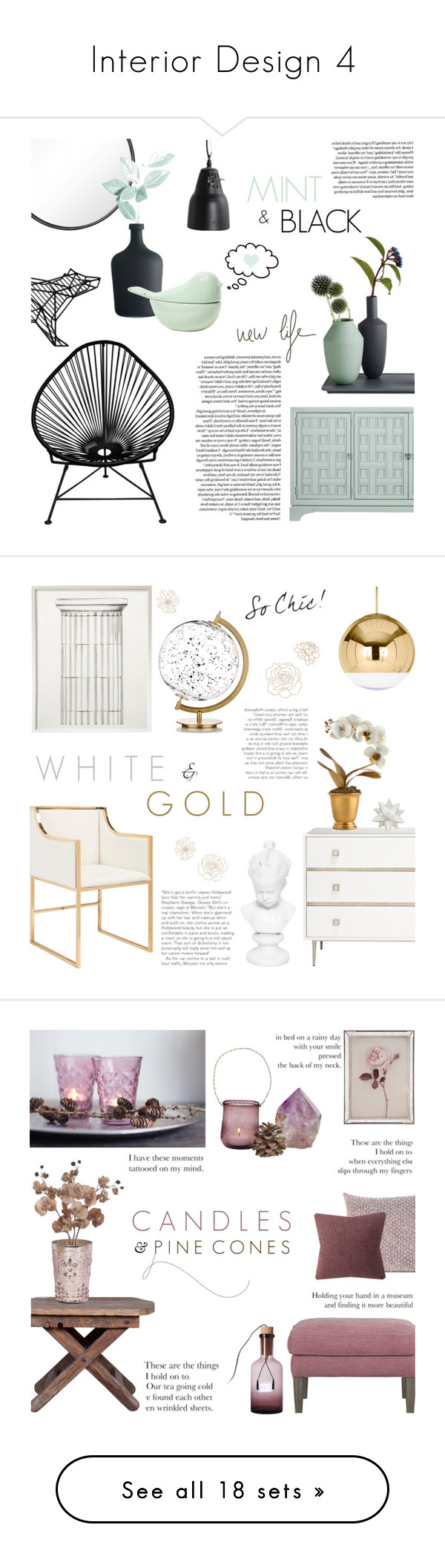 """""""Interior Design 4"""" by c-silla ❤ liked on Polyvore featuring interior, interiors, interior design, дом, home decor, interior decorating, Stanley Furniture, H&M, Kikkerland и House Doctor"""