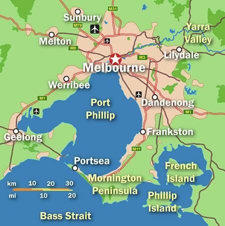 Map Of Victoria Australia With Cities.Mapsee Phillips Island Travel Pinterest Melbourne Australia