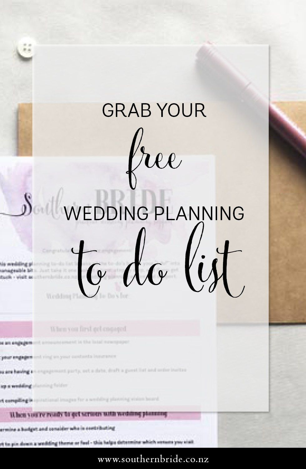 download a free wedding planning to do list to help make your wedding planning stress
