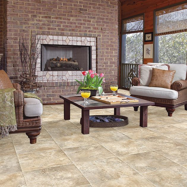 Resilient Ravencliff - 0100V - Latte - Flooring by Shaw