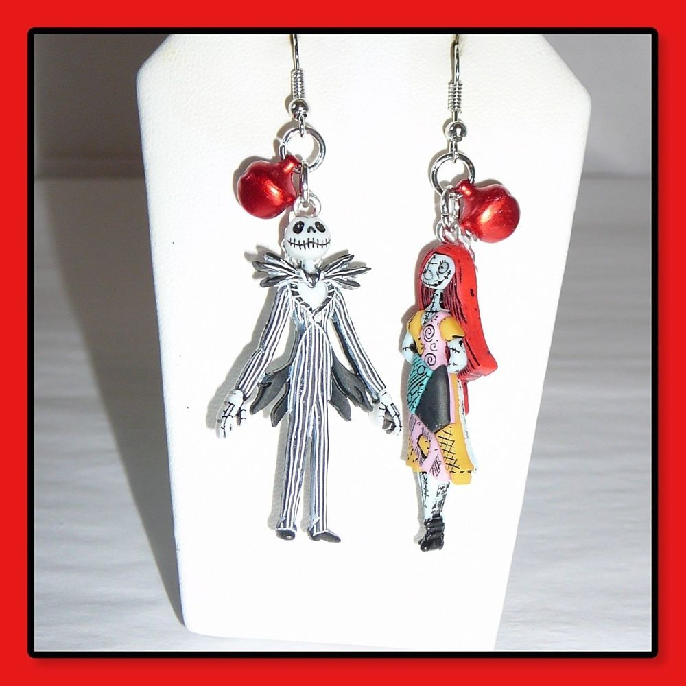3229fd1cbb508 Disney's Jack And Sally Nightmare Before Christmas Earrings With ...