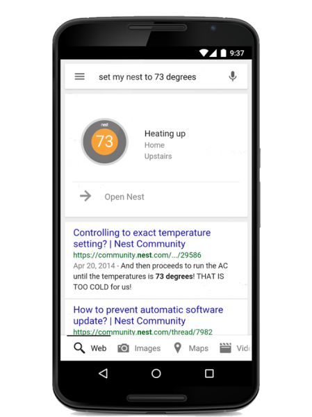 Nest Google Now Google S Now Predicting How Your Home Should Run The Voice Nest Thermostat Nest