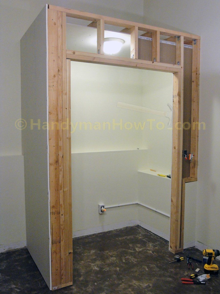 Building A Basement Bedroom Closet Drywall And Electrical Wiring